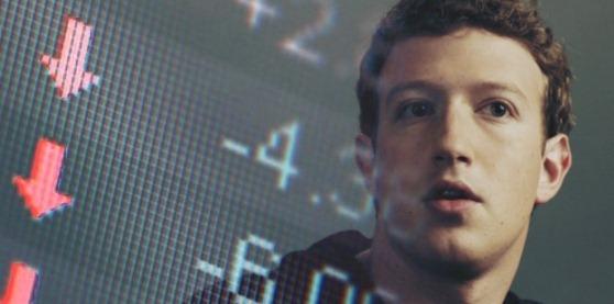 facebook 股价下跌-扎克伯格