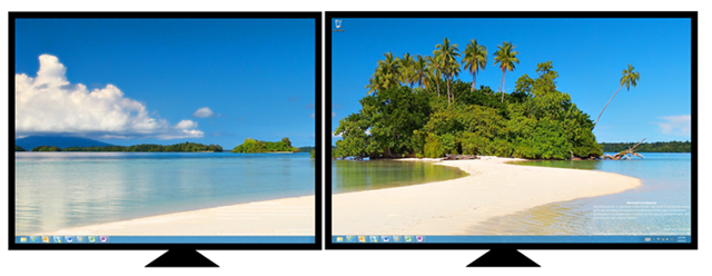 windows8多显示器背景设置