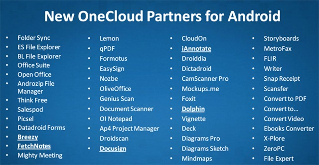 onecloud-android-partners