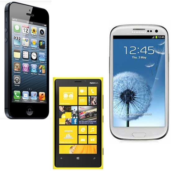 iphone5-Galaxy S3-Lumia920