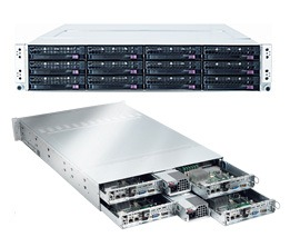 supermicro chassis with 4 easily serviceable nodes