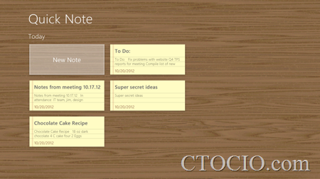 QuickNote Screen
