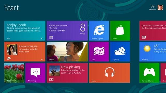 windows 8开机界面