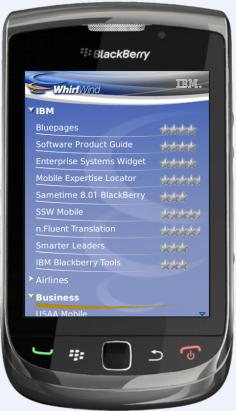 IBM内部应用商店黑莓平台