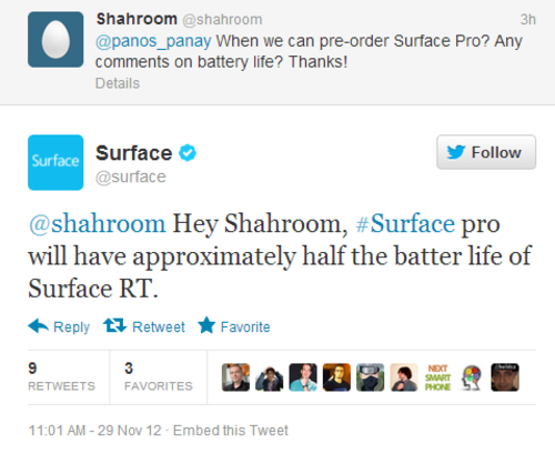 Surface twitter