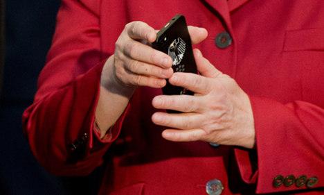 merkel 黑莓手机