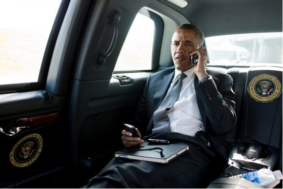 obama oustered iphone