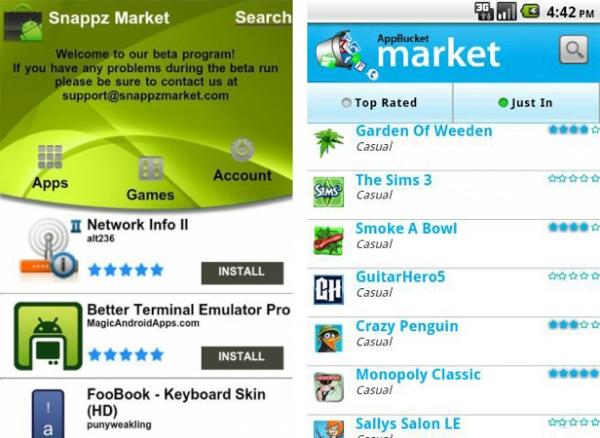 SnappzMarket and AppBucket