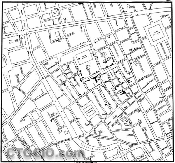 伦敦霍乱地图