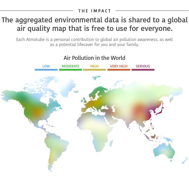 世界空气污染地图