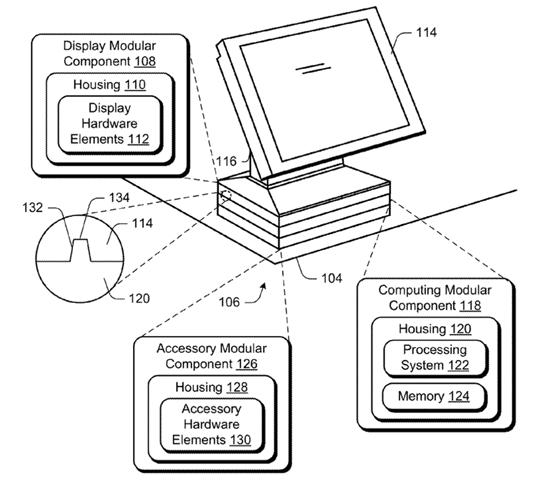 微软模块化设备的硬件堆栈Microsoft-modular-computing-device-stackable