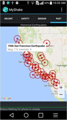 myshake地震预报1
