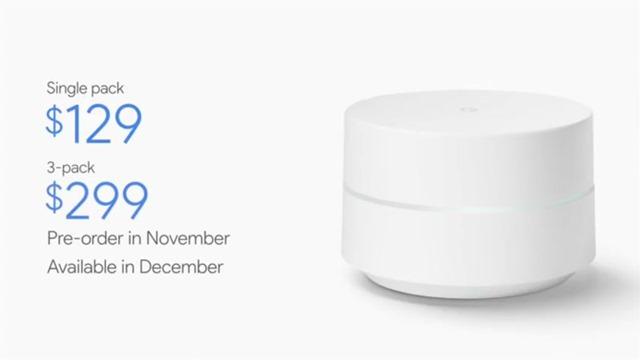 谷歌家庭智能路由器google-wifi