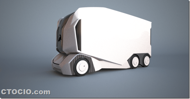 Einride的自动驾驶电动卡车t-podd