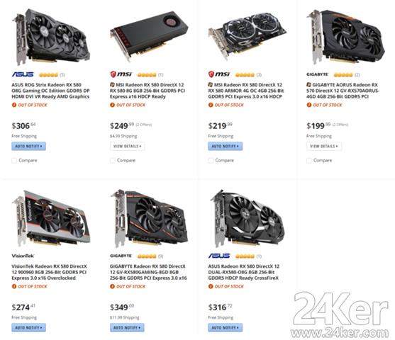 AMD-rx580-rx系列显卡断货