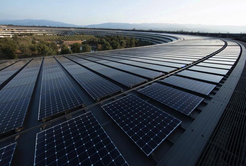 苹果总部太阳能电池阵列