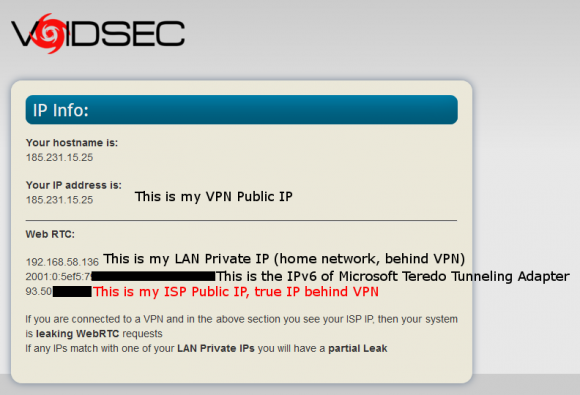 泄露用户IP地址的VPN黑名单