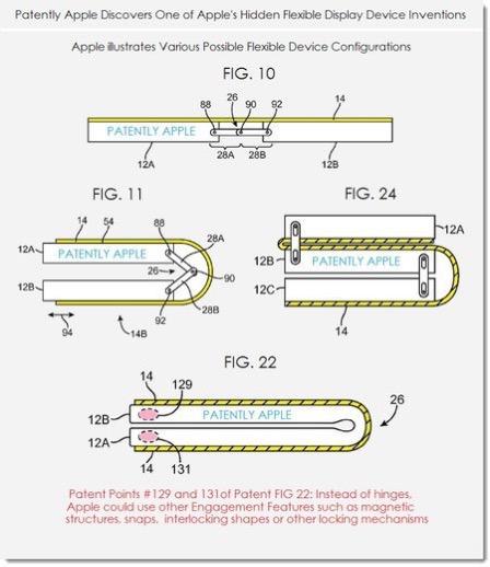苹果折叠屏手机专利